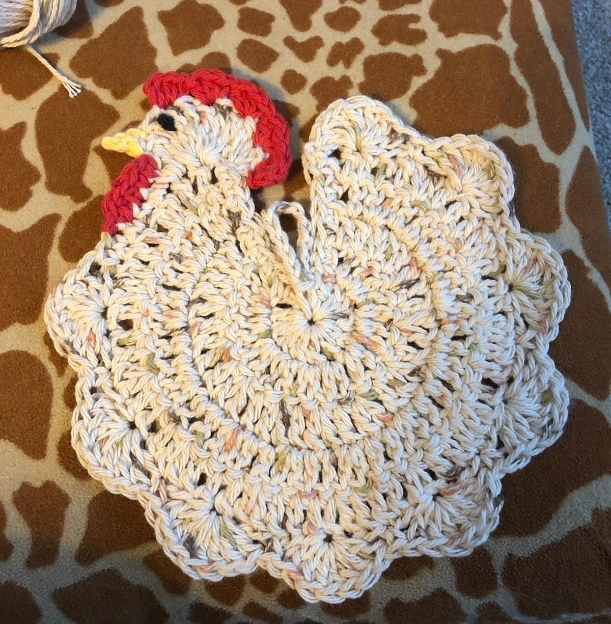 Chicken Crochet Potholder Daniel Art And Yarn